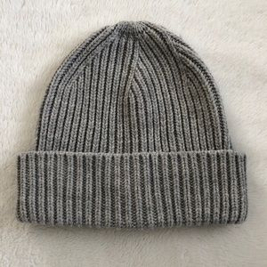 Love & Lore Ribbed Beanie Toque Grey